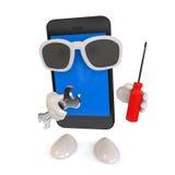 Smartphone con i vetri Fotografia Stock Libera da Diritti