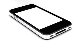 Smartphone con la pantalla en blanco aislada Imagen de archivo libre de regalías