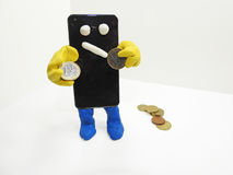 Smartphone con le mani Immagini Stock Libere da Diritti