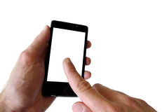 Smartphone con lo schermo in bianco Immagine Stock Libera da Diritti