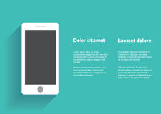 Smartphone con lo schermo in bianco Fotografia Stock