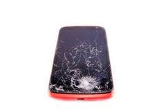 Smartphone con lo schermo rotto Fotografia Stock Libera da Diritti