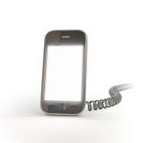 Smartphone con un telefono dell'annata Fotografie Stock Libere da Diritti