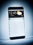 Smartphone con una exhibición transparente. Fotografía de archivo