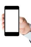 Smartphone con uno schermo in bianco Fotografie Stock