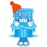 Smartphone congelé illustration stock