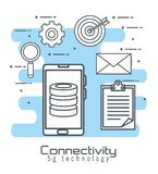 Smartphone with connectivity 5g technology. Vector illustration design royalty free illustration