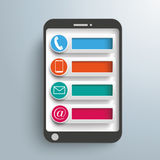 Smartphone Contact Icons Tabs Stock Image