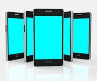 Smartphone Copyspace bedeutet Mobiltelefon-Kopie-Raum und Netz lizenzfreie abbildung