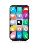 Smartphone d'écran tactile Photographie stock