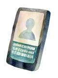 Smartphone d'icône d'aquarelle Images libres de droits