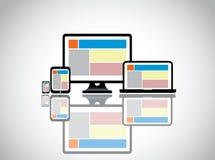 Smartphone d'ordinateur portable d'ordinateur de bureau de site Web Photos libres de droits
