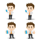 Smartphone d'utilisation d'homme d'affaires illustration libre de droits
