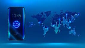 Smartphone Dados grandes ilustração royalty free