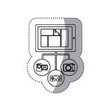Smartphone database server icon stock Stock Images
