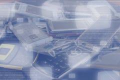 Smartphone Datenübertragungen Lizenzfreies Stockfoto