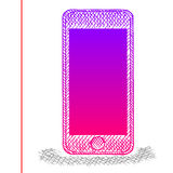 Smartphone de croquis illustration stock