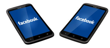 Smartphone de Facebook Photographie stock libre de droits