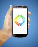 Smartphone de fixation de main Photo stock