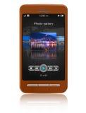 Smartphone de la pantalla táctil Fotografía de archivo