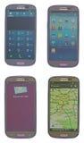 Smartphone de la pantalla táctil Imagen de archivo libre de regalías