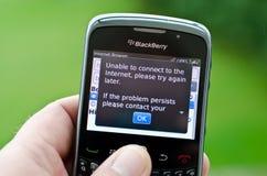 Smartphone de la zarzamora Foto de archivo libre de regalías