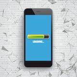 Smartphone-de Lading van Netwerkgegevens vector illustratie