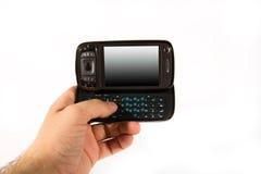 smartphone de main Images libres de droits
