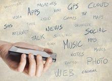 Smartphone de multimédia Photographie stock libre de droits