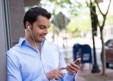 Smartphone de observação Imagem de Stock