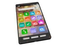 Smartphone de pointe d'écran tactile photographie stock libre de droits