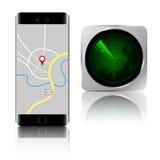 Smartphone-de toepassing isoleert Royalty-vrije Stock Foto's