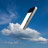 Smartphone in de wolk Royalty-vrije Stock Fotografie