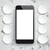 Smartphone-de Zwarte App Cirkels van Netwerkgegevens vector illustratie