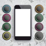 Smartphone-de Zwarte App Knopen van Netwerkgegevens vector illustratie