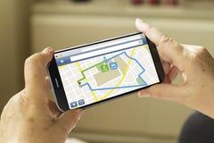 Smartphone dei Gps Fotografia Stock Libera da Diritti