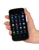 Smartphone del nexo de la galaxia de Samsung Imágenes de archivo libres de regalías