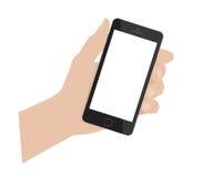 Smartphone della holding della mano Spazio in bianco dello Smart Phone Fotografia Stock Libera da Diritti