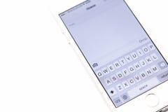 Smartphone della tastiera Immagini Stock