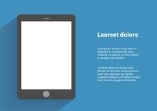 Smartphone della tenuta della mano con lo schermo in bianco Fotografia Stock