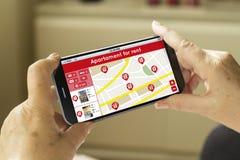 Smartphone dello schermo in bianco Fotografie Stock