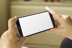 Smartphone dello schermo in bianco Fotografia Stock