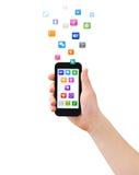 Smartphone in der Hand Lizenzfreie Stockfotografie