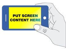 Smartphone in der Hand Stockfotografie