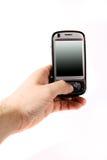 Smartphone in der Hand Stockbild