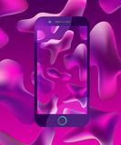 Smartphone design abstract background vector stock illustration