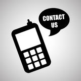 Smartphone design, contact and technology concept, editable vector Royalty Free Stock Image