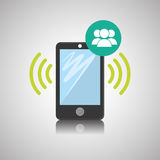 Smartphone design, contact and technology concept, editable vector Royalty Free Stock Photo