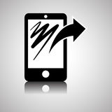 Smartphone design, contact and technology concept, editable vector Royalty Free Stock Images