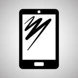 Smartphone-Design, Kontakt und Technologiekonzept, editable Vektor Lizenzfreies Stockbild